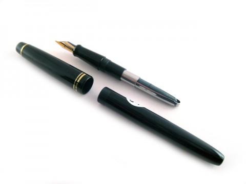 Pilot 78G Fountain Pen - Broad Nib - Teal body