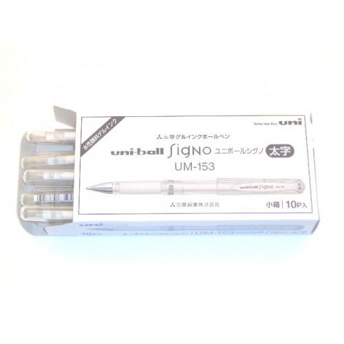 Uniball Signo Broad Gel Pen - White (Box of 10)