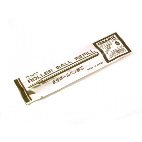 Ohto C-305 Ceramic Roller Ball Pen Refill - 0.5 mm - Black