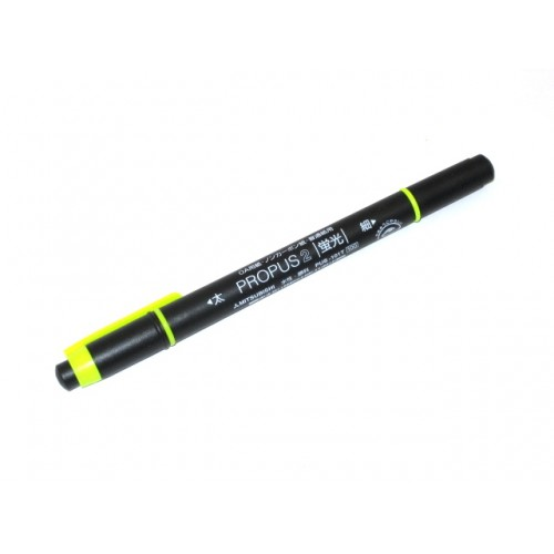 Uni Propus 2 Twin-headed Highlighter - Yellow