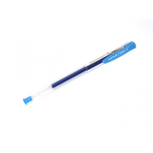 Uni Signo UM-100     0.7mm - Light Blue