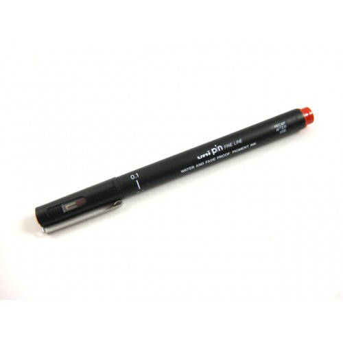 Uni Pin Fine Line    Drawing Pen -- 01 Red