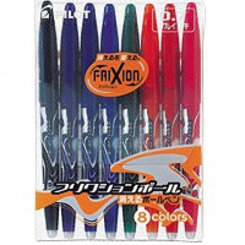 Pilot FriXion 0.7mm Erasable Pen - 8 Color Set