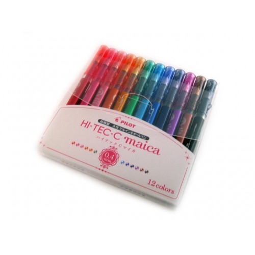 Pilot Hi-Tec-C Maica Gel Pen - 0.4mm - 12-Color Set