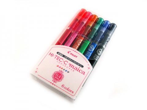 Pilot Hi-Tec-C Maica Gel Pen - 0.4mm - 6-Color Set