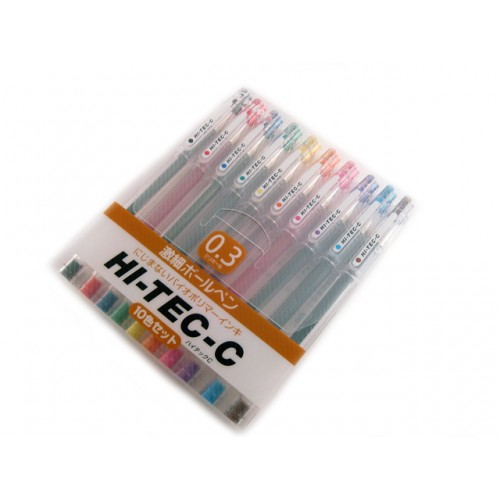 Pilot Hi-Tec-C 0.3mm     - 10 Pen Gift Set