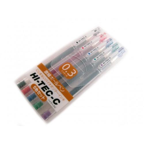 Pilot Hi-Tec-C 0.3mm     - 5 Pen Gift Set