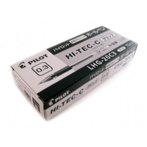 Pilot Hi-Tec-C 0.3mm  -   Black (Box of 10)