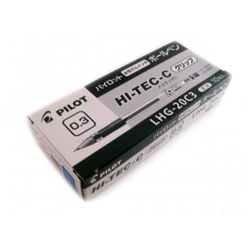 Pilot Hi-Tec-C 0.3mm  -   Blue (Grip Version) (Box of 10)