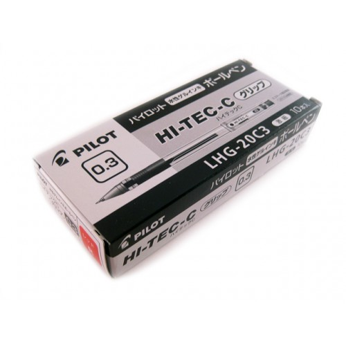Pilot Hi-Tec-C 0.3mm  -   Red (Grip Version) (Box of 10)