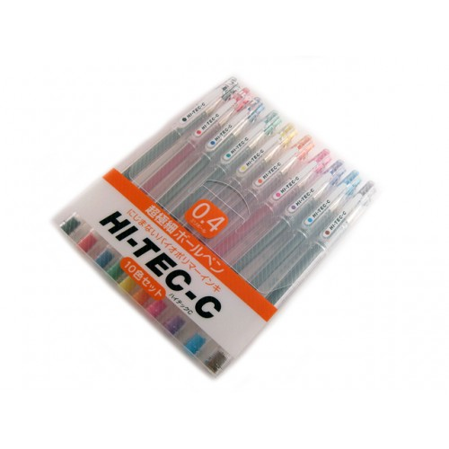 Pilot Hi-Tec-C 0.4mm     - 10 Pen Gift Set