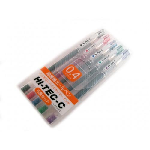 Pilot Hi-Tec-C 0.4mm     - 5 Pen Gift Set