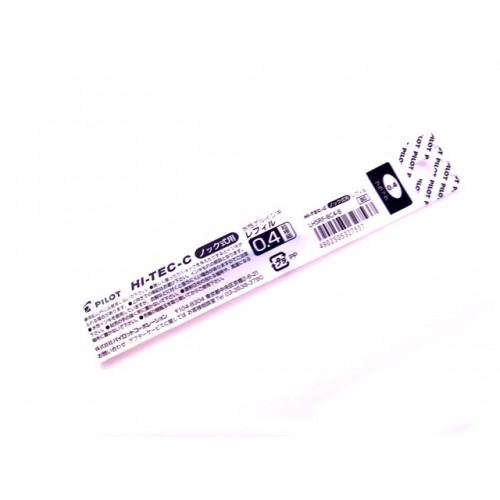 Pilot Hi-Tec-C Slim Knock Refill - 0.4mm - Black