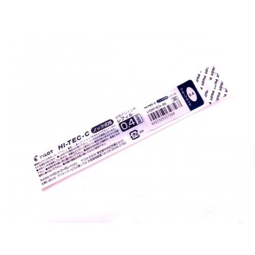 Pilot Hi-Tec-C Slim Knock Refill - 0.4mm - Blue Black