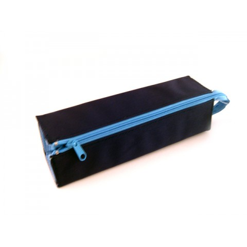 Kokuyo C2 Tray Type Pencil Case - Navy/Light blue