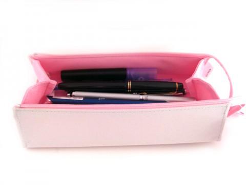 Kokuyo C2 Tray Type Pencil Case - Gray/Pink