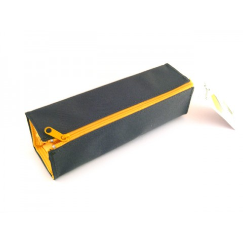 Kokuyo C2 Tray Type Pencil Case - Khaki/Yellow