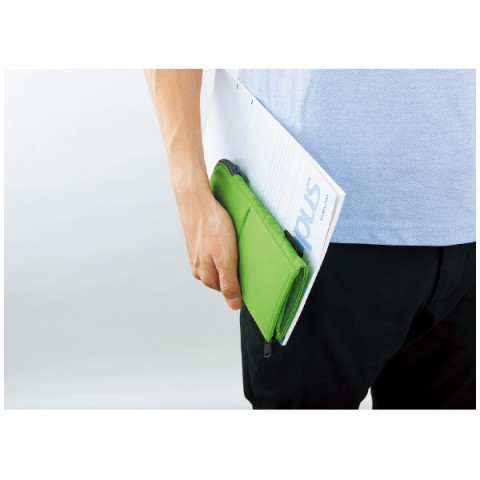 Kokuyo Neo Critz Flat Transformer Pencil Case - Green