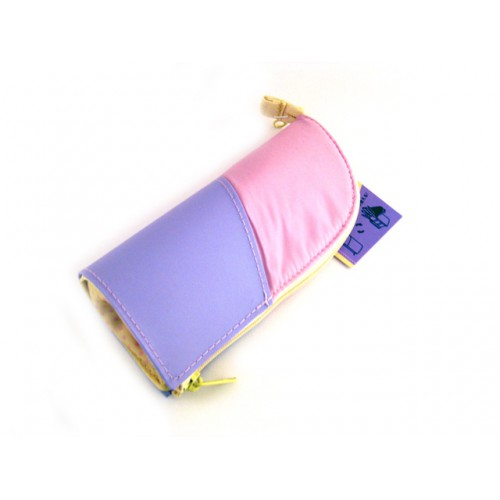 Kokuyo Neo Critz Mini Pencil Case - Pink Purple/Yellow Dot