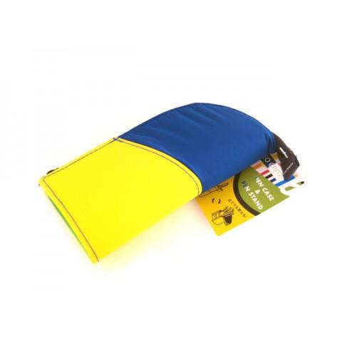 Kokuyo Neo Critz Mini Pencil Case - Blue Yellow/Green