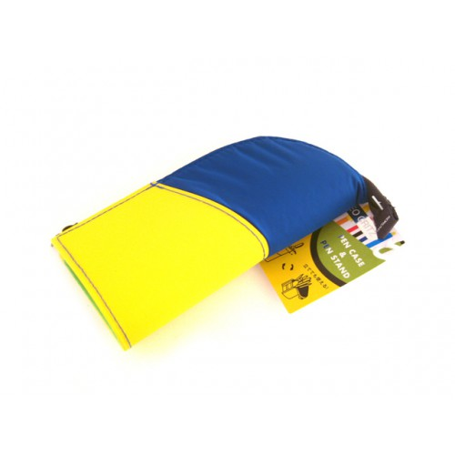 Kokuyo Neo Critz Mini Pencil Case - Blue Yellow/Green