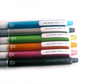 Uni Kuru Toga Mechanical Pencil - Green Body 0.5mm