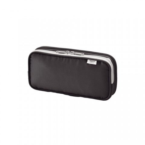Lihit Lab Smart Fit Double Pencil Case - Small - Black