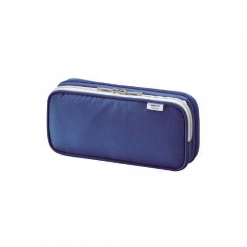 Lihit Lab Smart Fit Double Pencil Case - Small - Blue