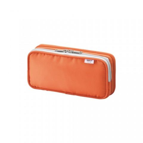 Lihit Lab Smart Fit Double Pencil Case - Small - Orange
