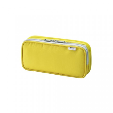 Lihit Lab Smart Fit Double Pencil Case - Small - Yellow