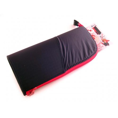 Kokuyo Neo Critz Transformer Pencil Case - Double Zipper - Black/Red