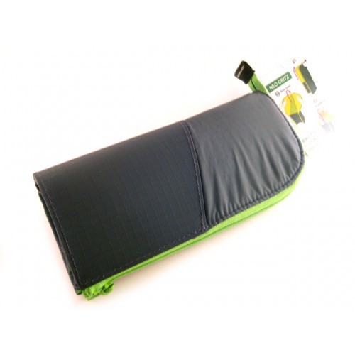 Kokuyo Neo Critz Transformer Pencil Case - Double Zipper - Dark Green/Light Green