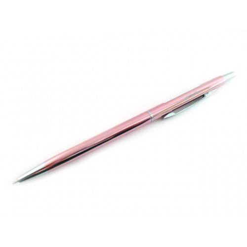Ohto Needle Point Slim Ballpoint Pen - 0.3mm - Pink Body