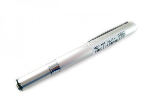 Ohto Tasche Needle Point Ballpoint Pen - 0.7mm - Silver Body