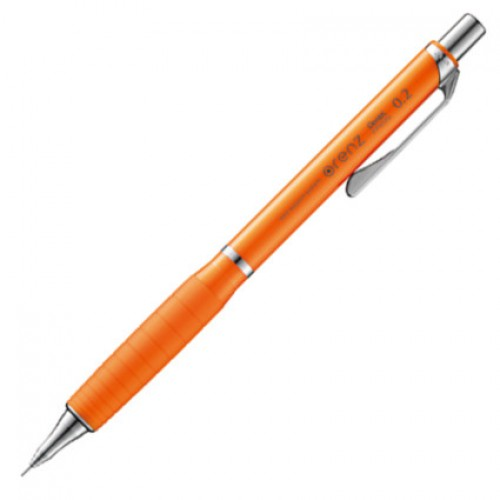 Pentel Orenz Rubber Grip Mechanical Pencil 0.2mm - Orange Body