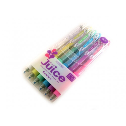 Pilot Juice Gel Pen - 0.5mm - 6-Pastel-Color Set