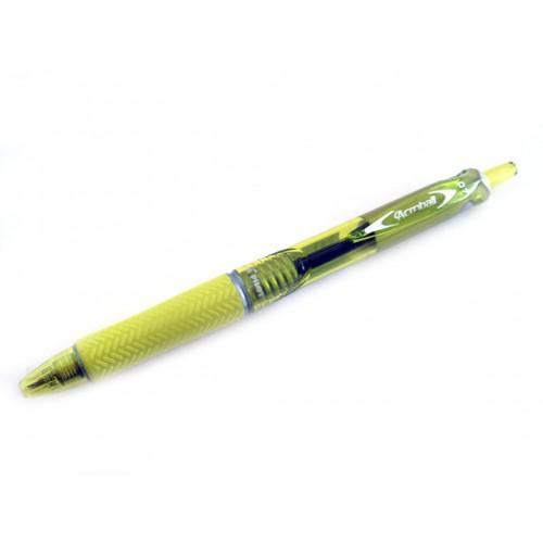 Pilot Acroball Ballpoint Pen 0.7mm - Yellow Body - Black Ink
