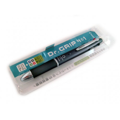 Pilot Dr Grip 4+1 Multi Pen - 0.5mm - Gray Body