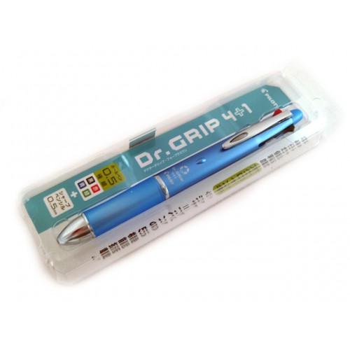 Pilot Dr Grip 4+1 Multi Pen - 0.5mm - Ice Blue Body