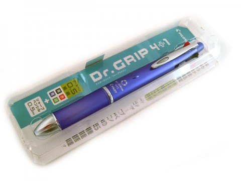 Pilot Dr Grip 4+1 Multi Pen - 0.5mm - Lavender Body