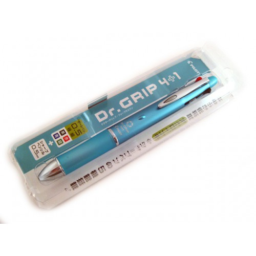 Pilot Dr Grip 4+1 Multi Pen - 0.5mm - Mint Green Body