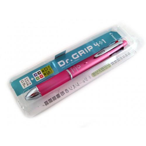 Pilot Dr Grip 4+1 Multi Pen - 0.5mm - Shell Pink Body