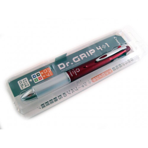 Pilot Dr Grip 4+1 Multi Pen - 0.7mm - Bordeuax Body