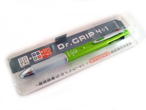 Pilot Dr Grip 4+1 Multi Pen - 0.7mm - Light Green Body