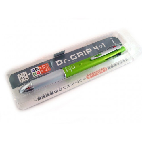 Pilot Dr Grip 4+1 Multi Pen - 0.7mm - Light Green Body