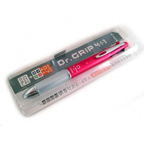 Pilot Dr Grip 4+1 Multi Pen - 0.7mm - Pink Body