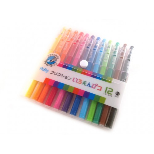 Pilot Frixion Color-Pencil Gel Pen - 0.7mm - 12-Color Set