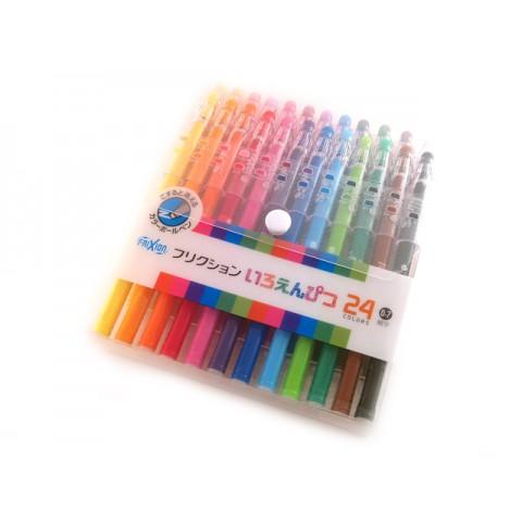 Pilot Frixion Color-Pencil Gel Pen - 0.7mm - 24-Color Set
