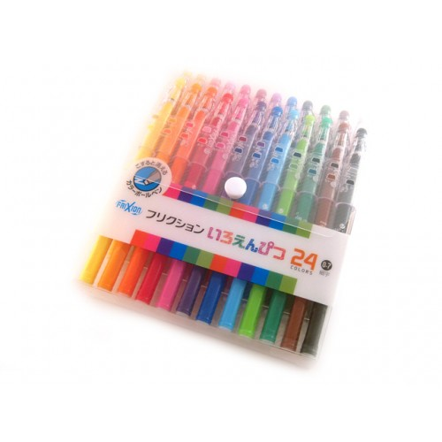 Pilot Frixion Color-Pencil Gel Pen - 0.7mm - 24-Color Set