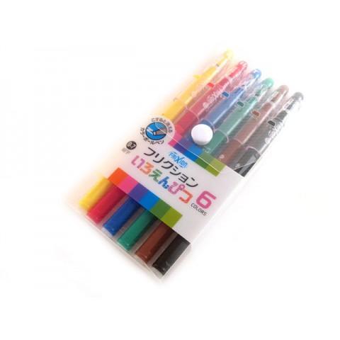 Pilot Frixion Color-Pencil Gel Pen - 0.7mm - 6-Color Set